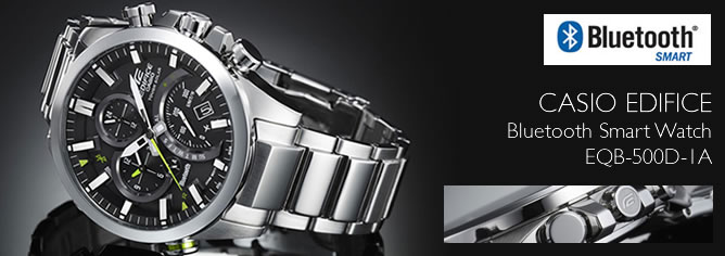 Casio Edifice Tough Solar Phone Finder Bluetooth Smart Watch EQB-500D-1A