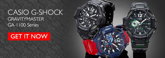 Casio G-Shock GRAVITYMASTER 200M Thermometer Compass Watch GA-1100 Series