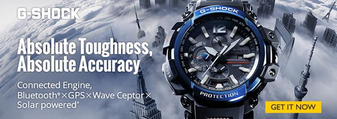 Casio G-Shock GPS Hybrid Solar Radio Black Resin Watch GPW-2000 Series