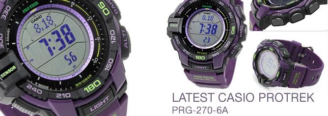 Casio Protrek Ver 3 Triple Sensor Compass Solar Watch PRG-270-6A
