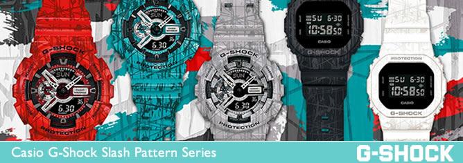 Casio G-Shock Slash Pattern Series